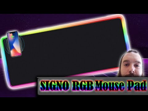 $30 RGB Mouse Pad QI WIRELESS to Charge Your Phone ( SIGNO Extended Mouse Pad )