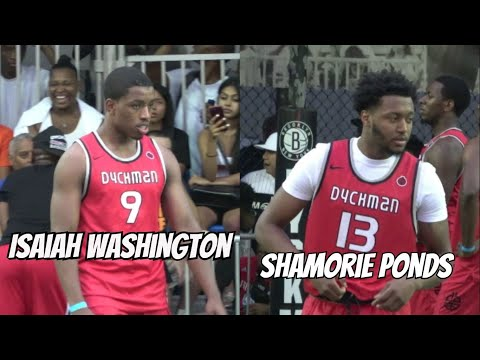 Isaiah Washington & Shamorie Ponds Turn Dyckman Up! SCARY backcourt  Summer Debut  Full Highlights