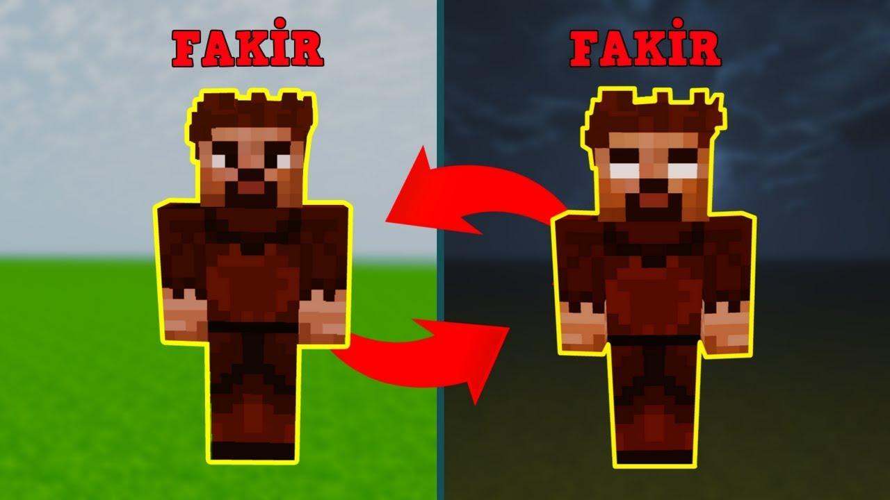 Zengin Vs Fakir 156 Fakir Herobrineye Donusuyor Minecraft Youtube