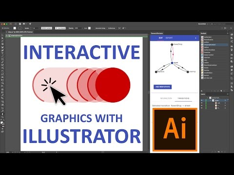Create interactive graphics with Illustrator