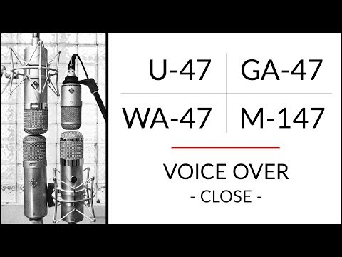 VOICE 1 Neumann U-47 vs M-147 vs Golden Age Premier GA-47 vs Warm Audio WA-47 microphone shootout!