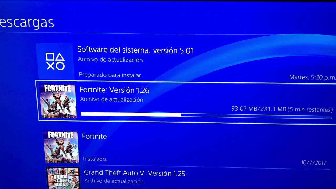 Ps4 New Update For Fortnite 1 26 Downloading It Youtube