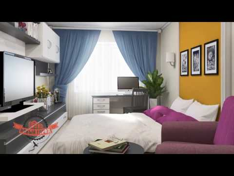 Дизайн однокомнатной квартиры 40 кв м от интерьерной студии Future Memory