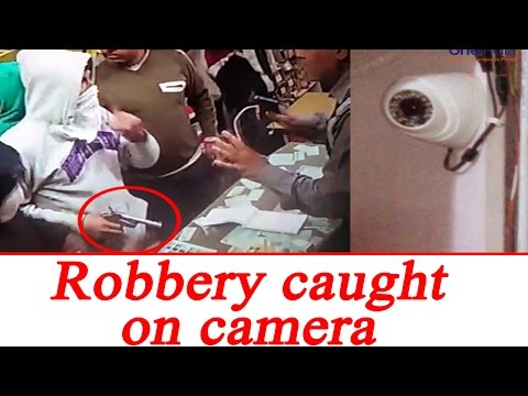 Meerut business man robbed at gunpoint, Watch CCTV footage | Oneindia News