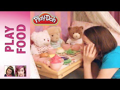 Play Doh Food Part 1 - Teddy Bear Tea Party