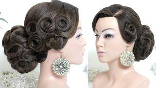 Hairstyle for long hair tutorial. Bridal updo, Bun