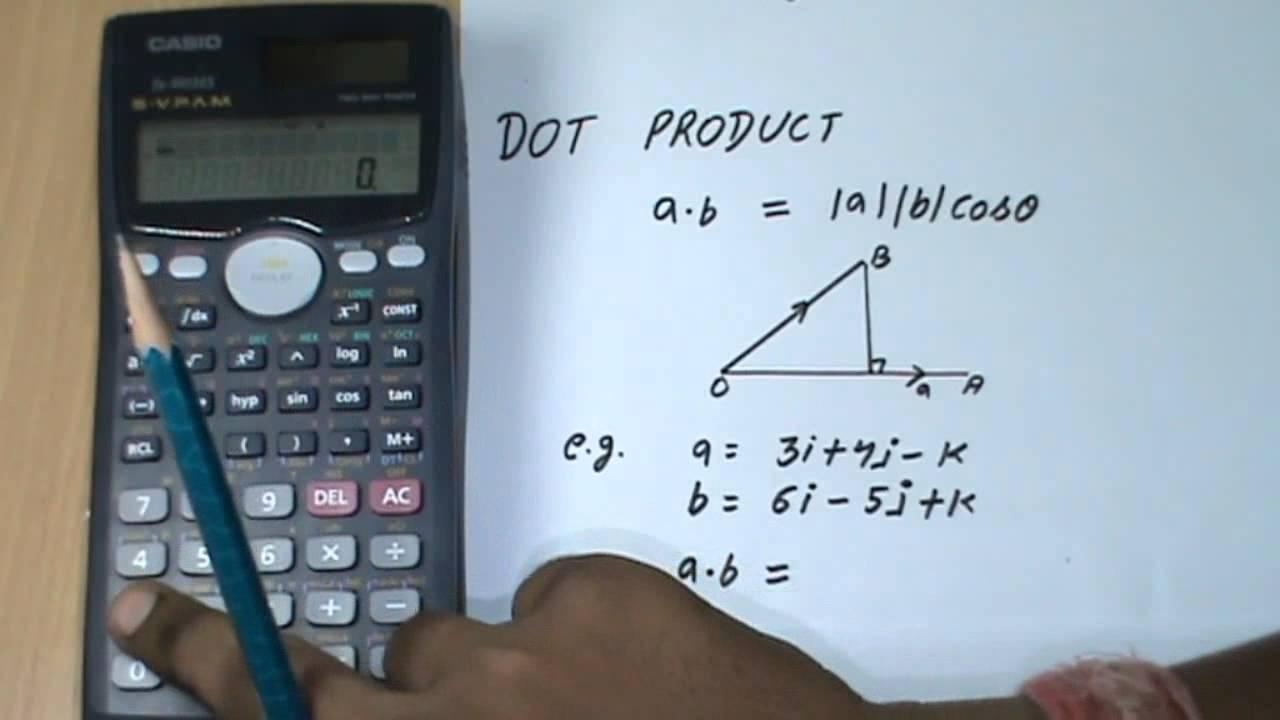 solving vector in casio scientific calculator youtube