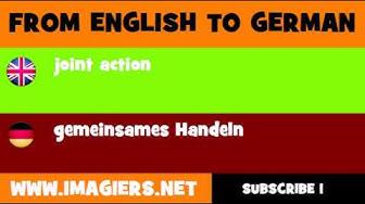DEUTSCH   ENGLISCH  = gemeinsames Handeln