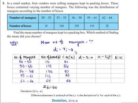 NCERT Solutions For Class 10 Maths Chapter 14 Statistics Exercise 14 1 Q5