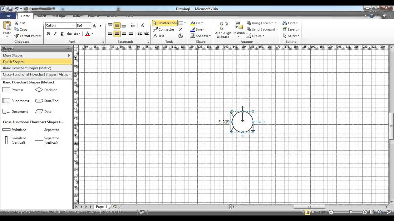 visio how to close a shape