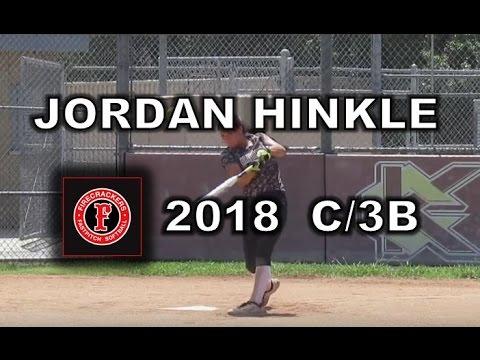 Jordan Hinkle 2018 C/3B Softball Recruit/Skills Video