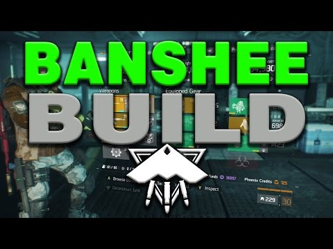 BANSHEE BUILD/SOLO MANHUNT (The Division) 1.4 205+ Dark Zone PvP