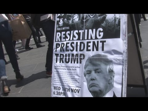 Melbourne People Outraged Over Trump Becoming US President