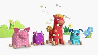 Теремок песенки из мультиков - Деревяшки 🐘🐻🐱🐴🐷 Лето - Лучшие мультфильмы для малышей