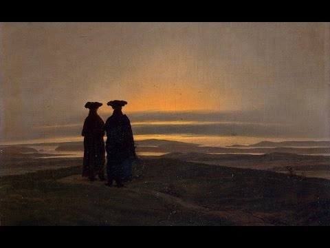 Ludwig van Beethoven : Piano Sonata No.3 : Adagio. Caspar David Friedrich : Paintings.