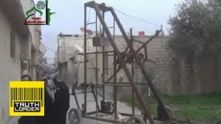 Syrian Opposition Use Medieval 'trebuchet' To Launch Bombs - Truthloader