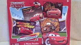 Disney Cars 4 Photo Jigsaw Puzzles 100 Pieces Each Used