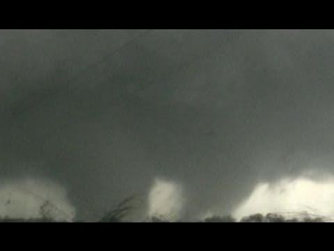 Massive multi-vortex tornado in Oklahoma - April 14, 2011 - YouTube