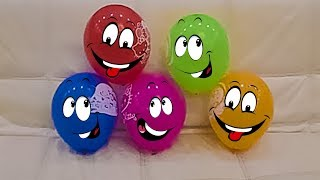 The Finger Family Song for Play with Balloons