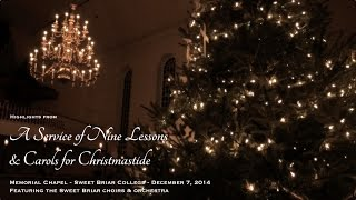 Highlights from the 2014 Sweet Briar College Vespers Service