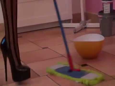 Milf's & Mature Housewives Cleaning & Housework in High Heels