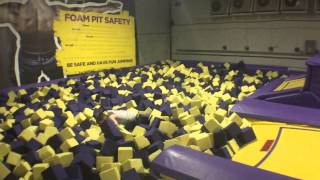 gravity force trampoline park foam pit and tumble track fun