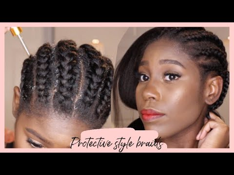 Protective Style Braids Under Your Wigs