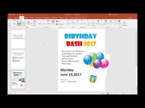 tutorial make a flyer on powerpoint basic youtube