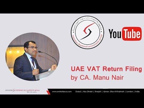 VAT Return Filing in UAE| Are You Feeling Lost in VAT Return Filing Online?- CEO, CA Manu Nair