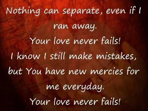 Your Love Never Fails lyrics video