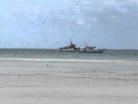 WWII Remnants at Red Beach, Betio, Tarawa, Kiribati