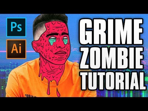 How To Make A Zombie Grime Effect - Photoshop/Illustrator CC Tutorial EASY (2018)