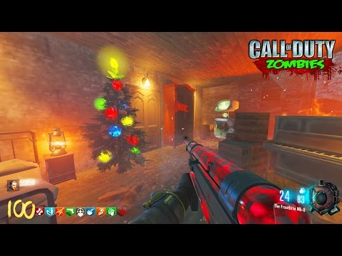 "CHRISTMAS ""NACHT DER UNTOTEN"" EASTER EGG REMAKE! - BLACK OPS 3 ZOMBIES CUSTOM ZOMBIES GAMEPLAY!"