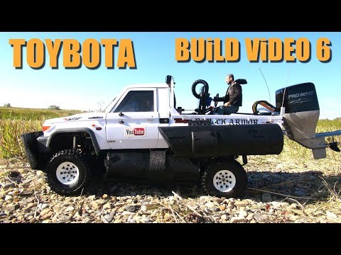 RC ADVENTURES - TOYBOTA PROJECT - PT 6 - BBC TOP GEAR TRiBUTE BUiLD - TOYOTA TRUCK-BOAT