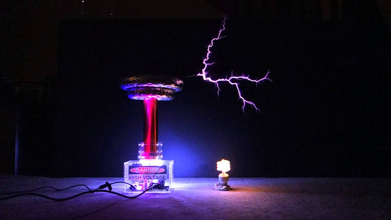 Onetesla Tesla Coil Mid Power Run Of Quot Mario Quot 2013 08