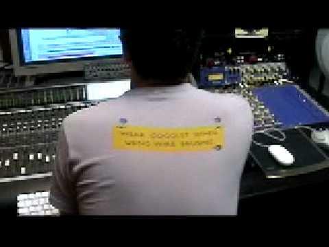 Acustic guitar recording session @ vinylizor studio - London 2008