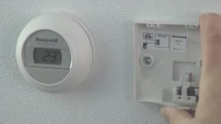 Round Wireless thermostaat aansluiten op ketelmodule R8810   Honeywell Home