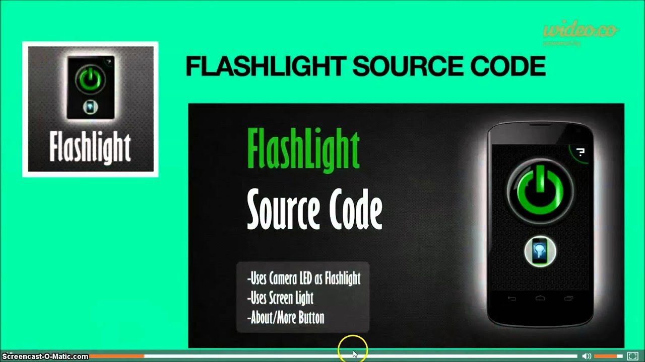 android flashlight app source code