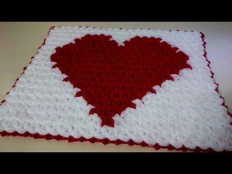 Kalp Desenli Lif Yapımı   Tığ işi Örgü Modelleri ♥