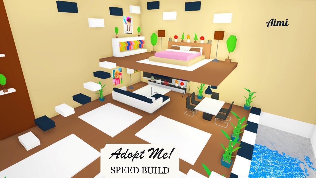 Modern Room In A Futuristic Home Speed Build Roblox Adopt Me Youtube