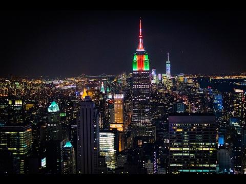 Manhattan by Night at Christmas