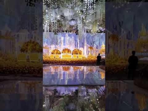 Ocean theme wedding decoration @raffles jakarta with LUMENS lighting production