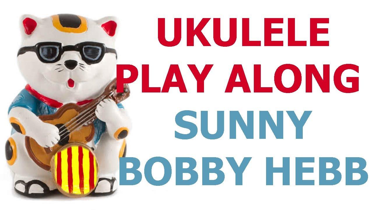 Sunny Bobby Hebb Ukulele Play Along Cover With Chords Youtube