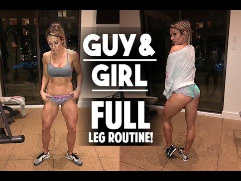 GUY & GIRL FULL LEG ROUTINE!