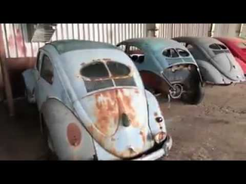 Classic Vw Bugs Vintage Split Window Garage Barn Stash In Bulgaria