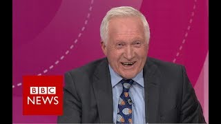 Dimbleby's 'BED TIME' alarm interrupts Question Time - BBC News