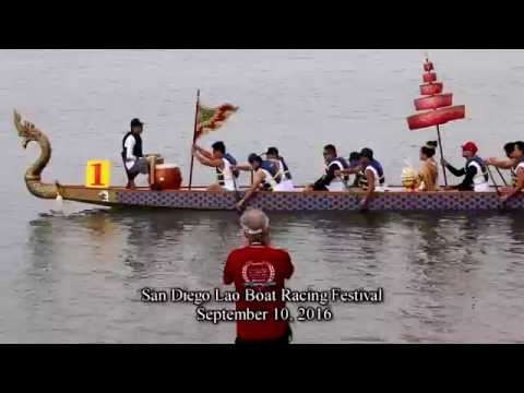 Lao Boat Racing Festival Complete All Heats San Diego CA Sept 10, 2016 Third Annual Celebrations