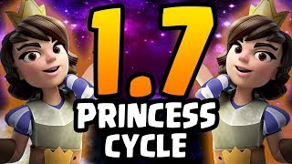 PRINCESS LIKE A PRO! 1.7 ELIXIR! FASTEST CYCLE EVER! | Clash Royale