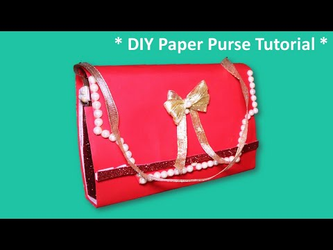 DIY PAPER PURSE TUTORIAL | CREATIVE WRAPPING IDEAS/ GIRLS PAPER PURSE GIFT BAG/ WRAPPING GIFTS IDEAS