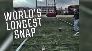 Alabama long snapper breaks world record